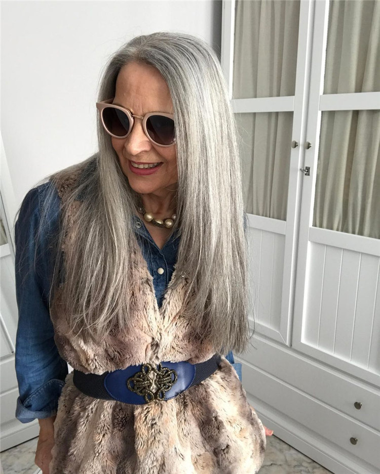Ice Straight Gray Hair