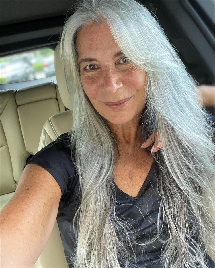Icy Long Hair for Women Over 50