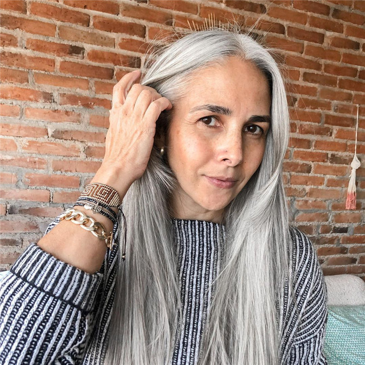 Long Grey Hair 2