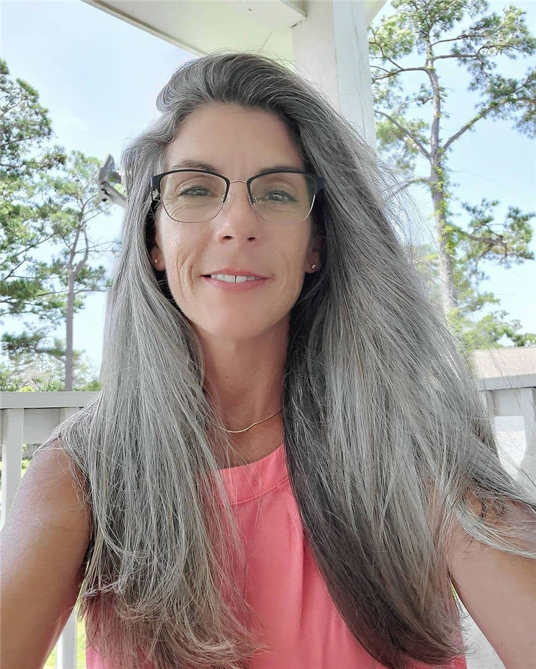 Long Grey Hair 5