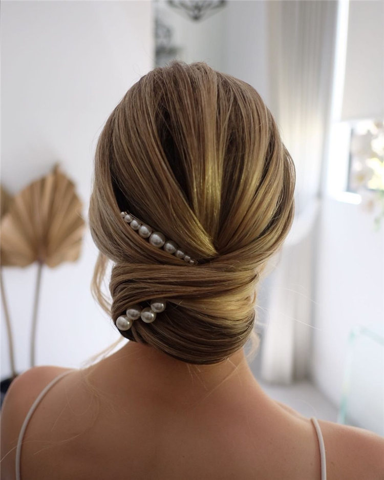 Low Wedding Updo