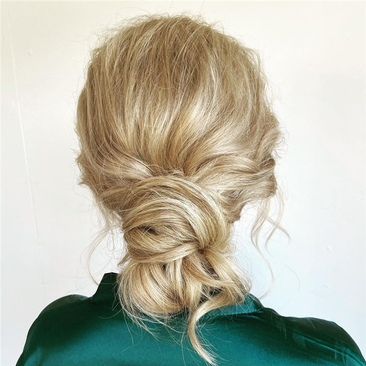 Messy Updo Wedding Hairstyles