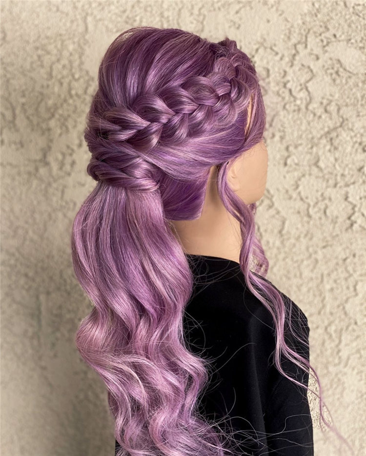 Purple Wedding Hair
