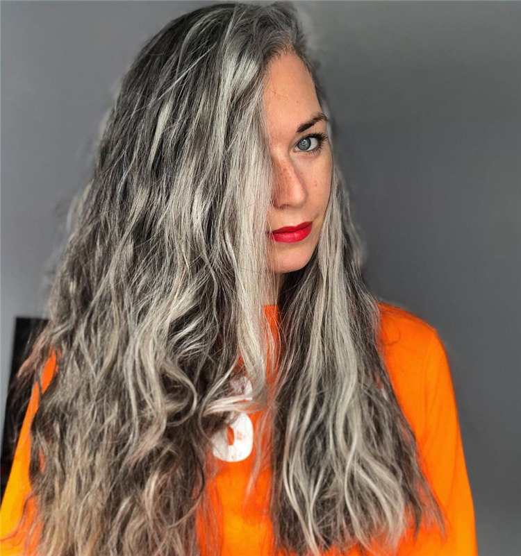 Real Long Grey Hair