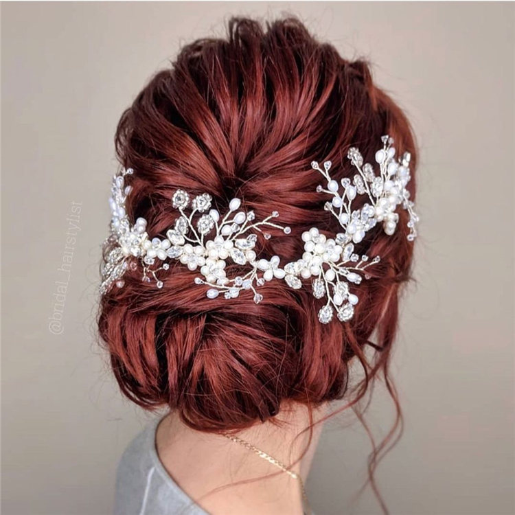 Red Wedding Hairstyles