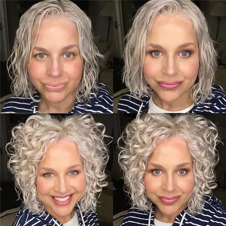 Short Blonde Curls