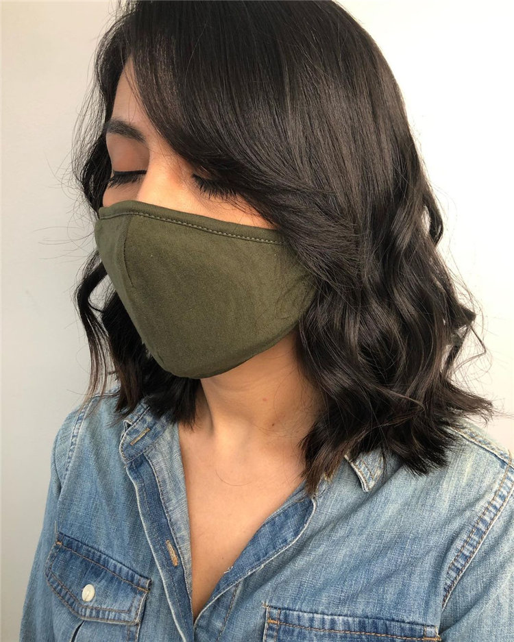 Blowout Style Side Bangs