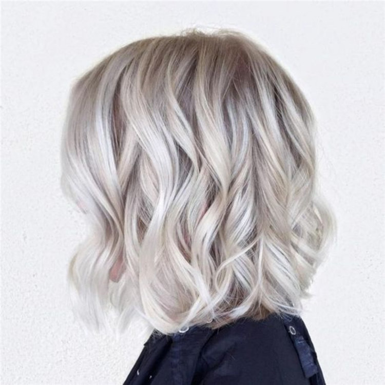 Bronde Balayage Ice Blonde Hair