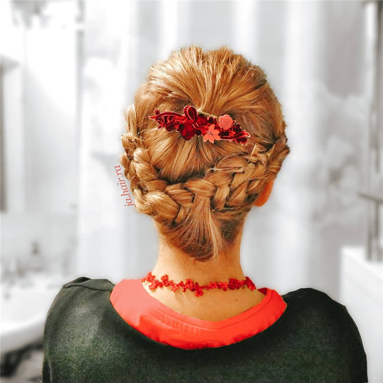 Brown Updo Style