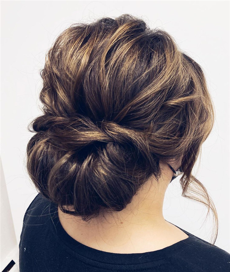 Brunette Bride Updo