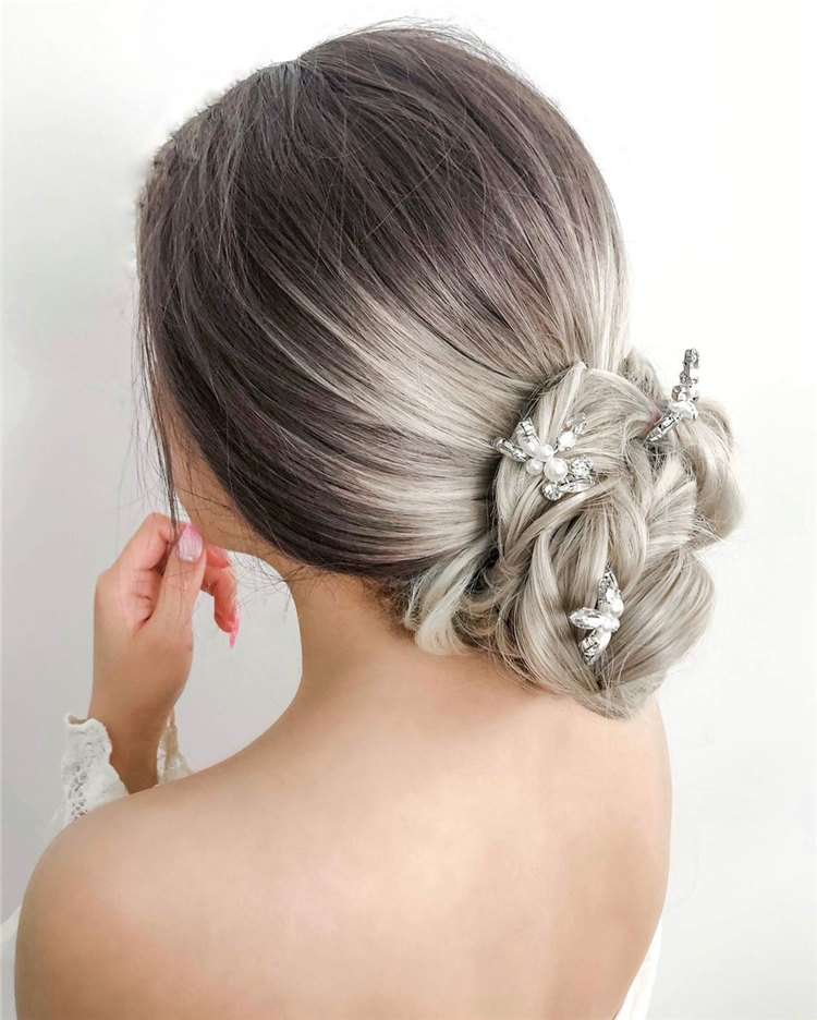 Grey Wedding Updo