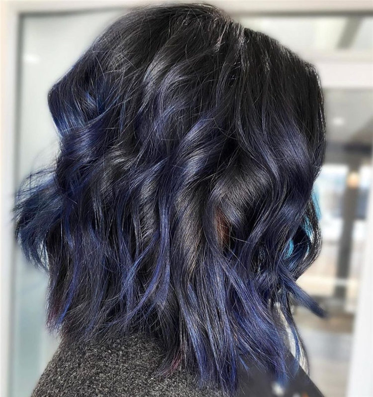 Midnight Blue and Black Hair
