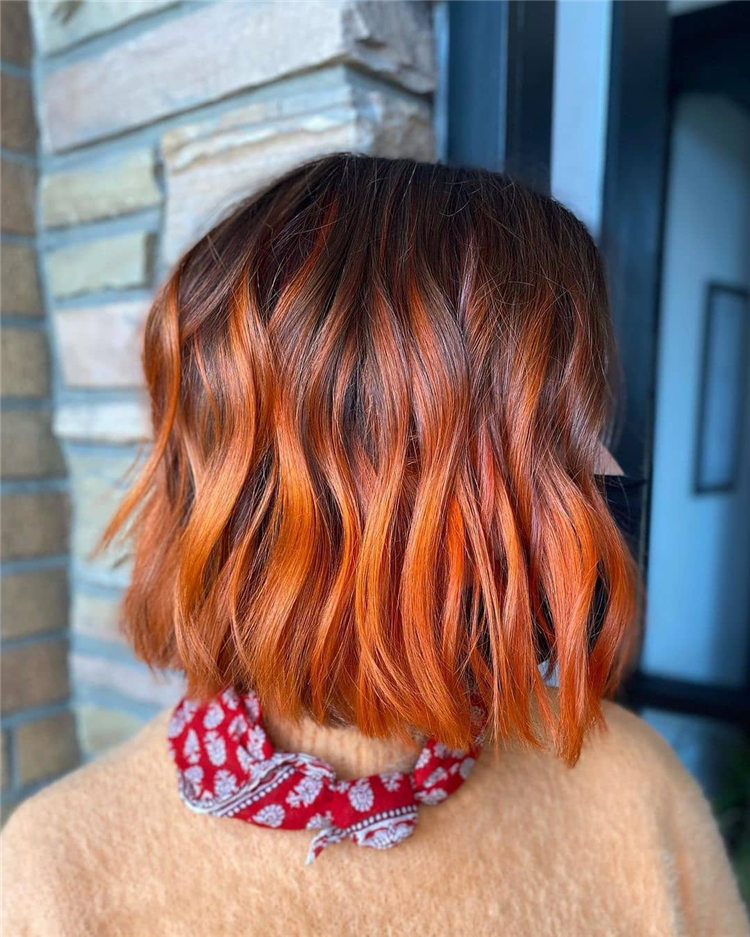 Red Bob Haircut 1