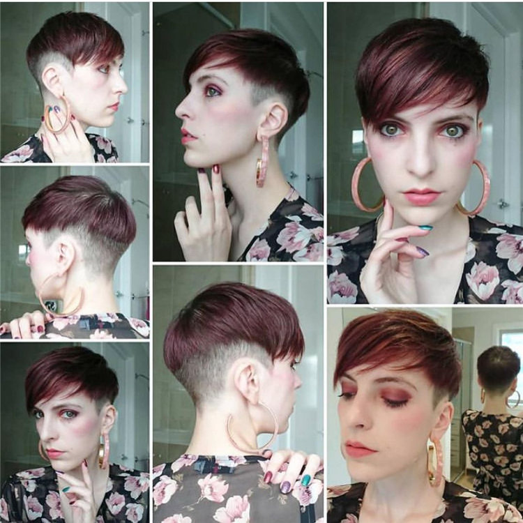 Red Short Hairstyle
