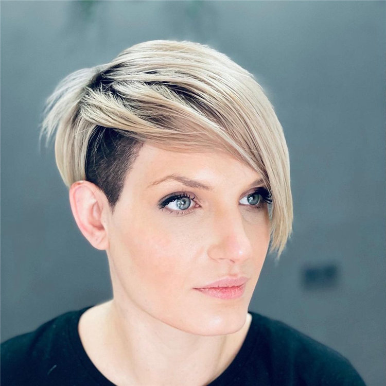 Short Blonde Hair Undercut
