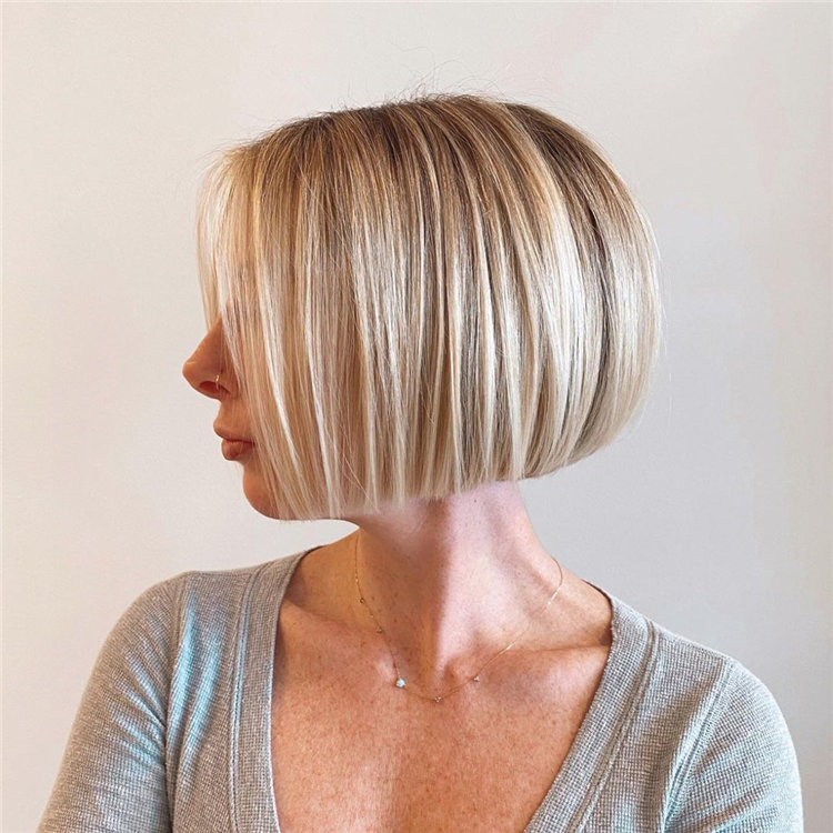 Short Blonde Textured Bob