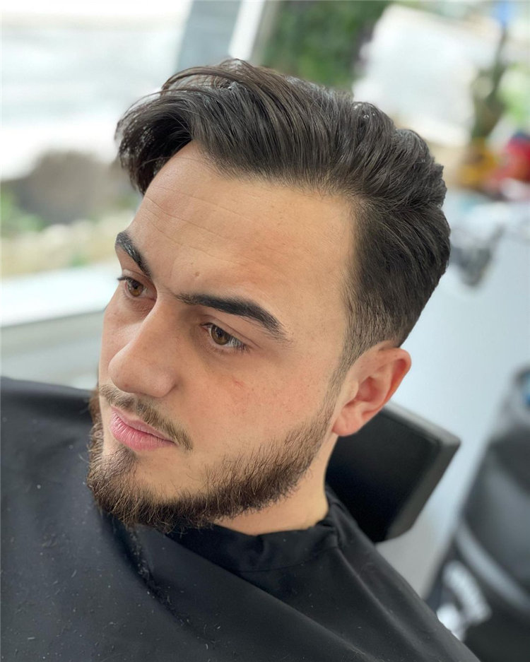 Side Parted Men Hairstyle