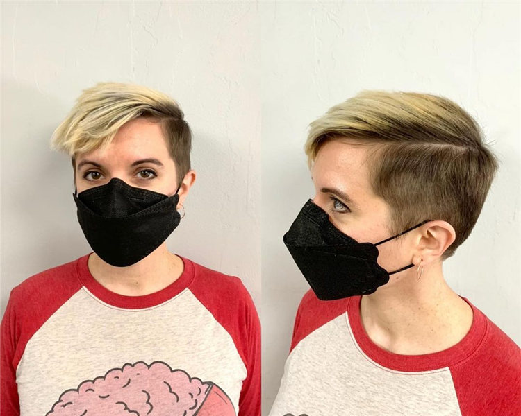 Side Parting Pixie Haircut 1