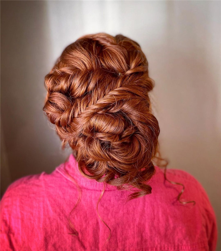 Textured Fishtail Braided Updo