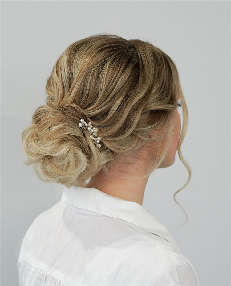 Textured Updo Style