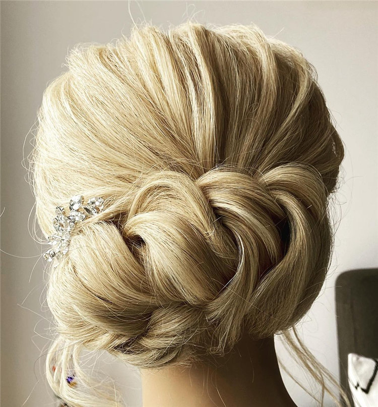 Blonde Messy Updos