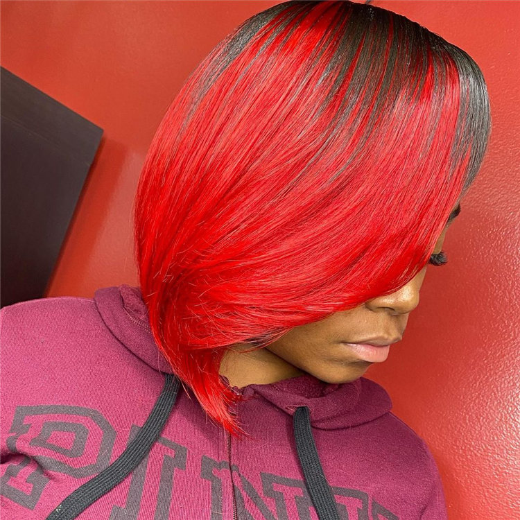Gorgeous Side Part Bob with Winning Looks 36