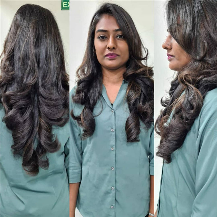 Layered Hair Out Curls