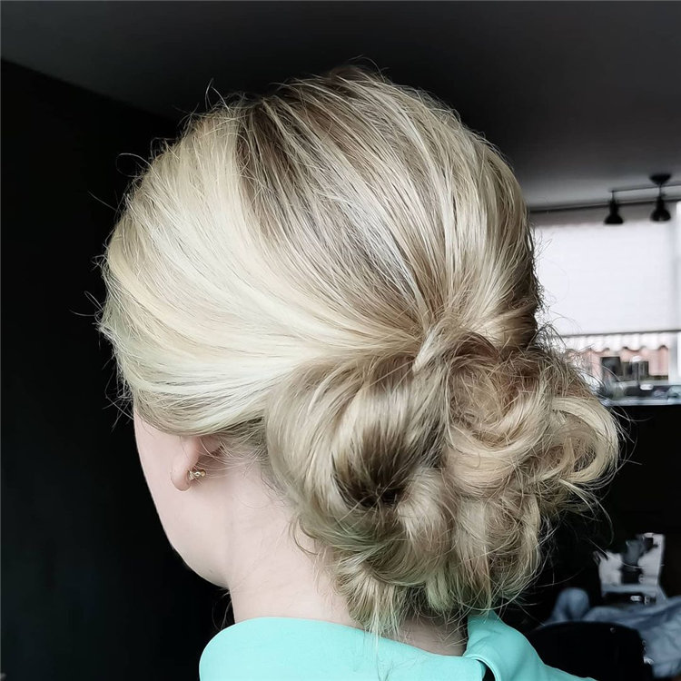Low Messy Bun Hairstyle 1