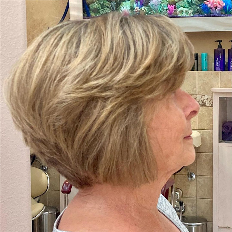 Over 50 Hair with Highlights