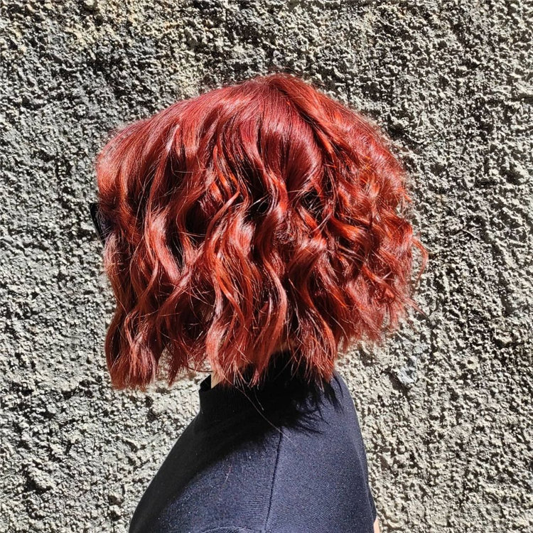 Red Messy Curly Hair