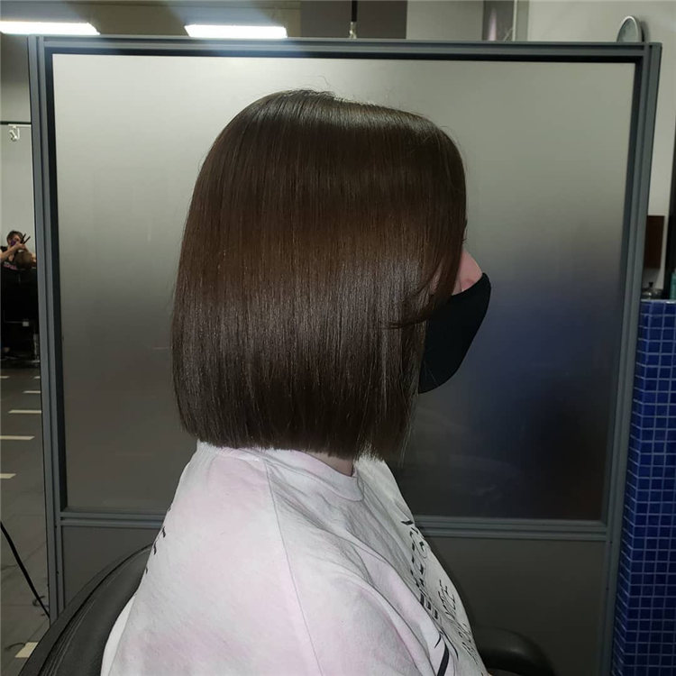 Straight Bob with Curtain Bangs