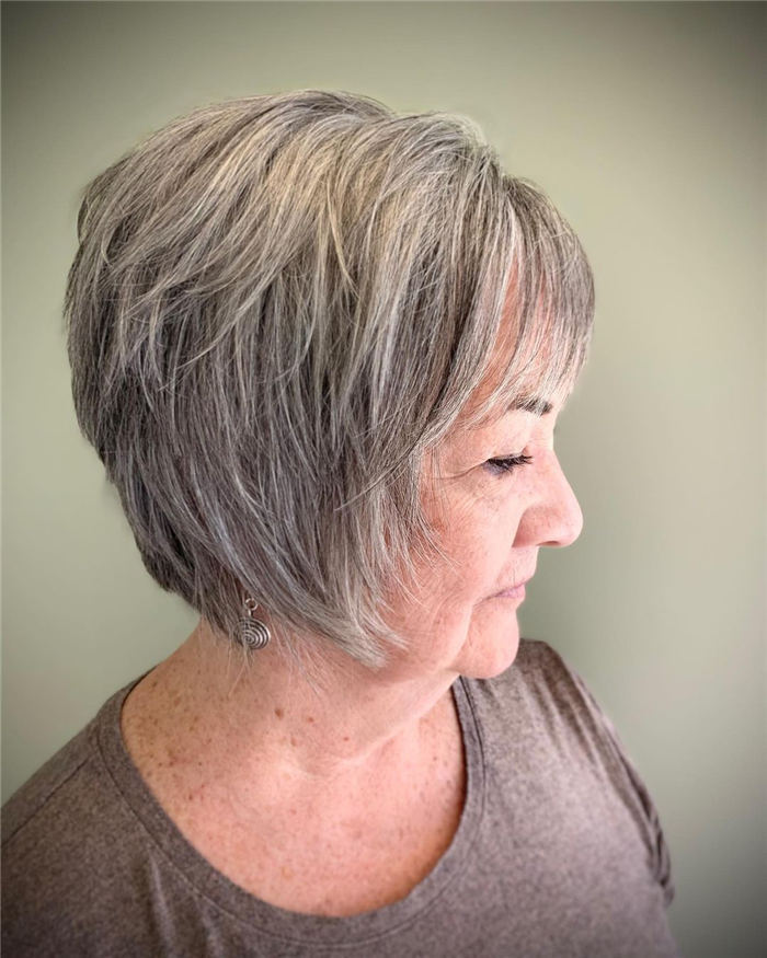 Simple Sassy Inverted Bob for Women Over 50