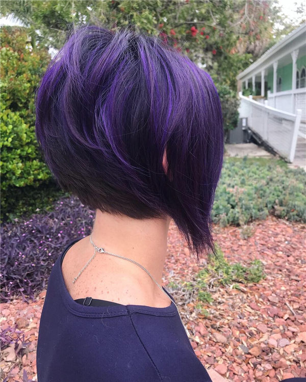 Another Purple Inverted Bob