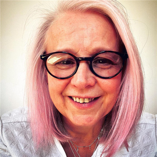 Pink Hairstyle Over 50