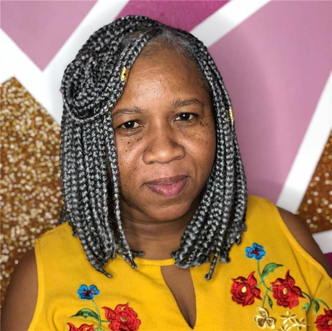 Cornrows Hairstyle for Black Women Over 50
