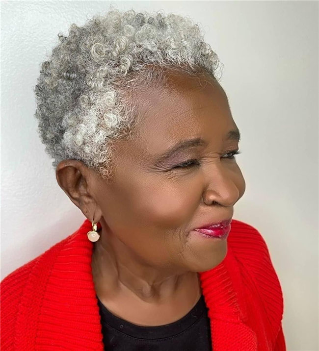 Curly Silver Hair for Black Women