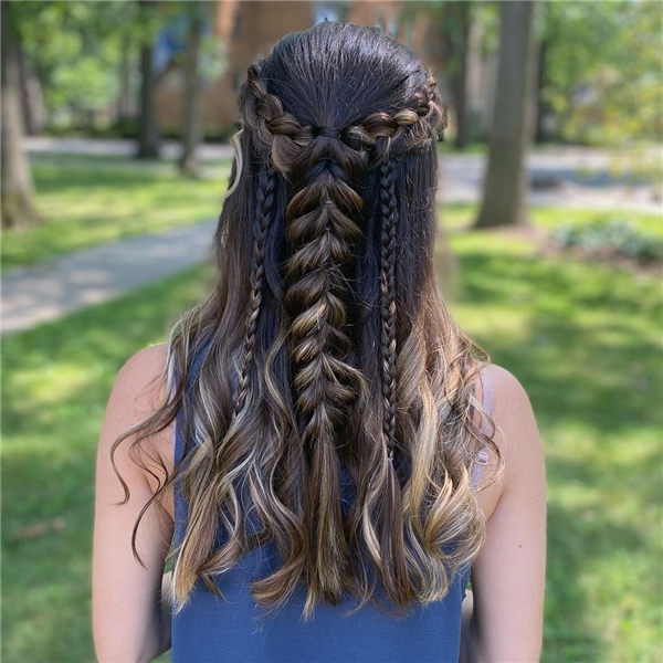 Half Up Fall Hairstyle
