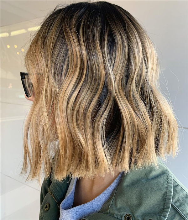 Ombre Highlights Fall Hair