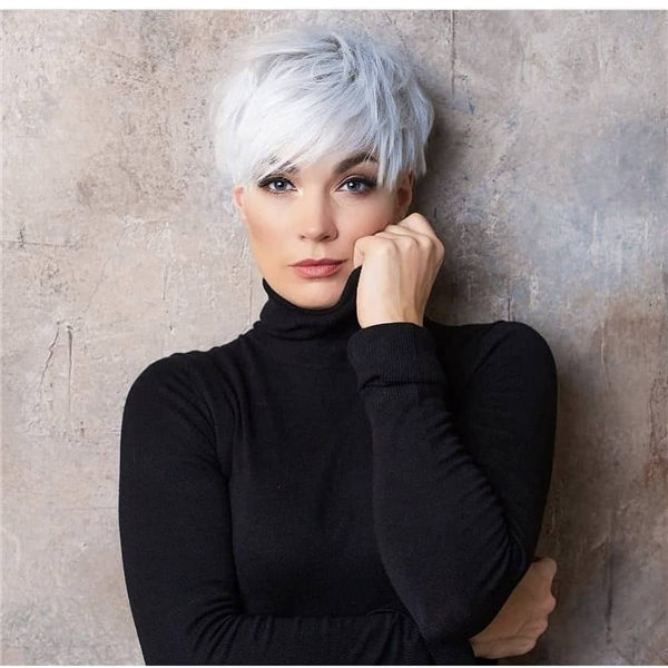 Silver Short Hairstyle 1