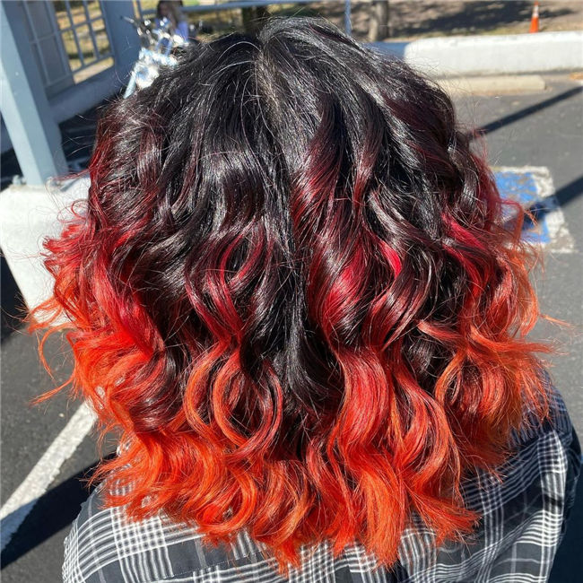 Black to Red Hair Color