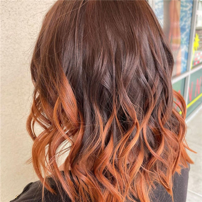 Ombre Hair Fall Color